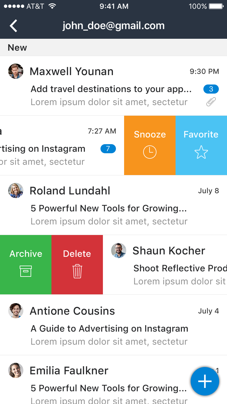 Snooze Mail UI Graphic example image 7