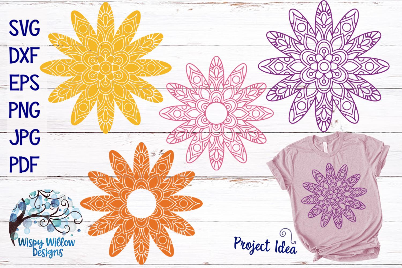 Daisy Flower Mandala SVG Bundle example image 1