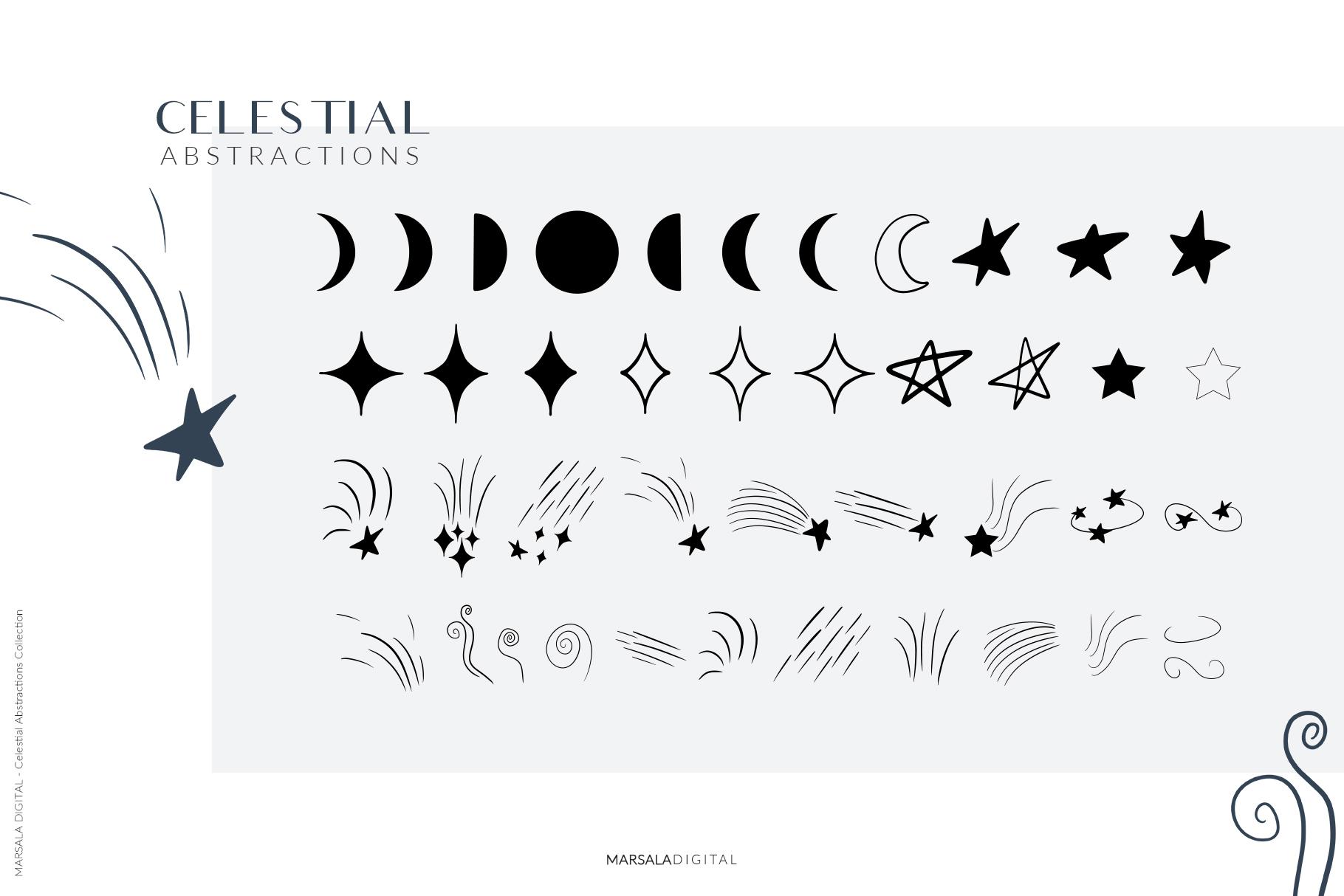 Celestial Abstract Set, Zodiac Stars example image 10