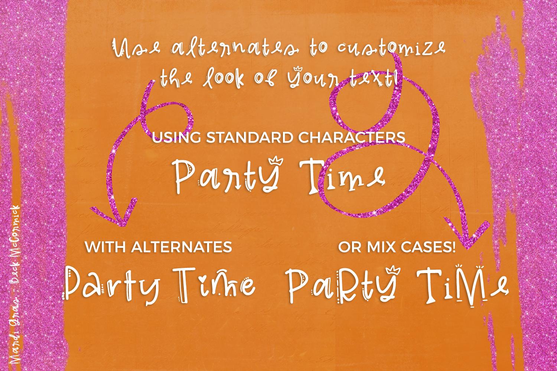 Mardi Gras Party Sans Font example image 8