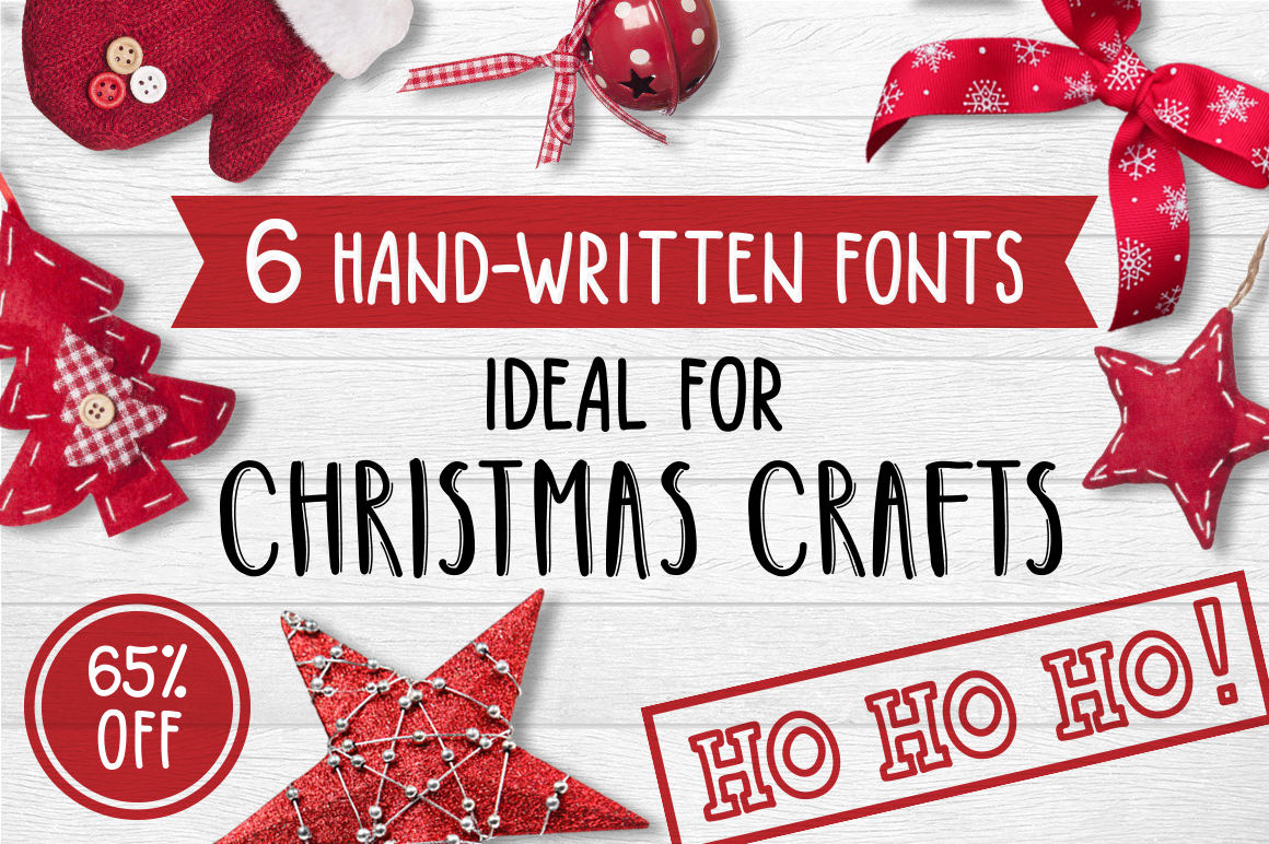 6 Fonts Christmas Collection example image 1