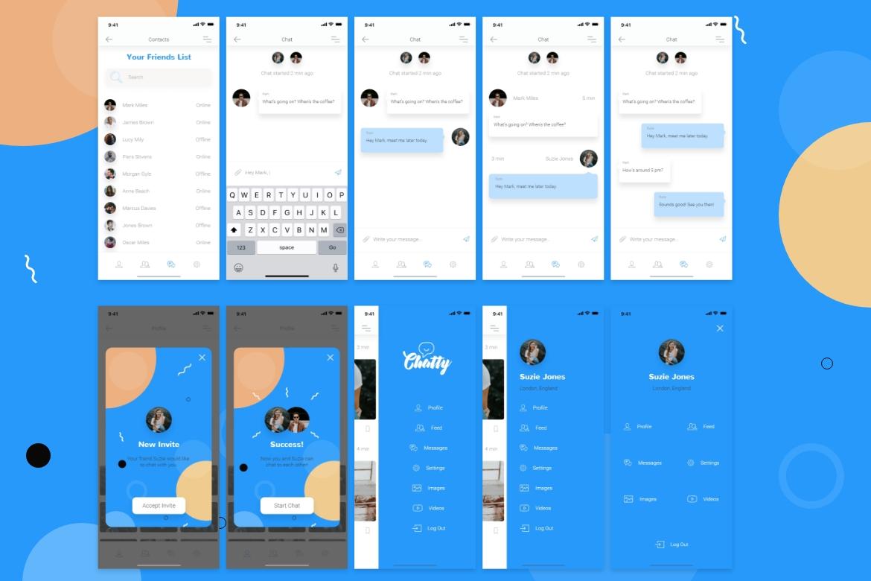 Chatty Mobile UI Kit example image 6
