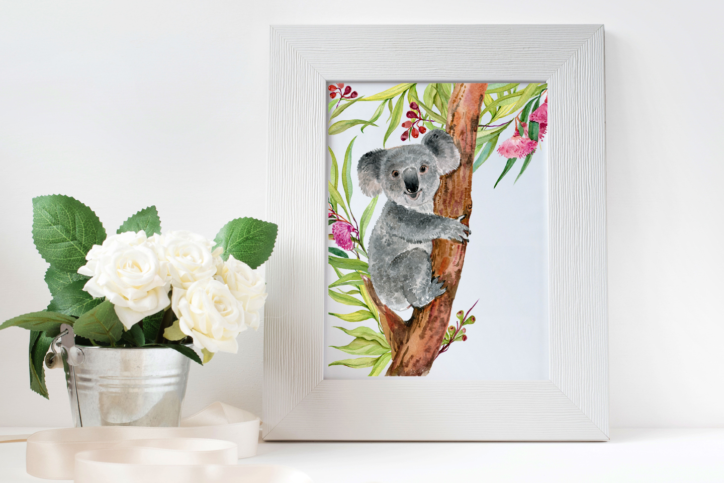 Koala & eucalyptus set illustration example image 6