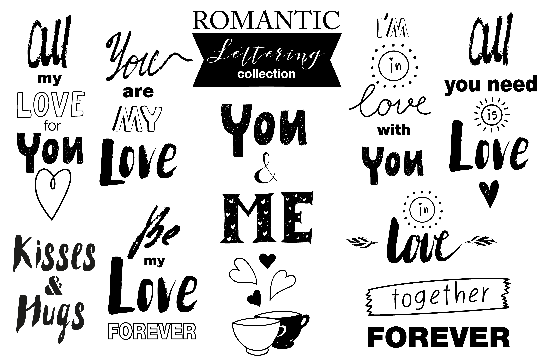 Hand drawn Romantic design kit example image 4
