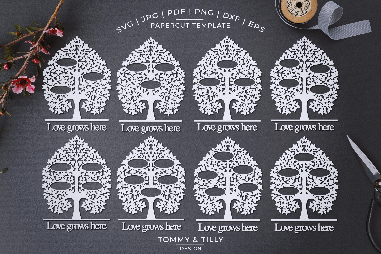 MEGA BUNDLE! Family Tree Cut Files - SVG | Papercut example image 8