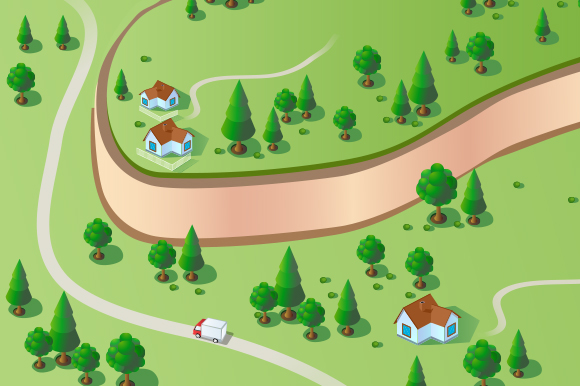 Vector Landscape city example image 1