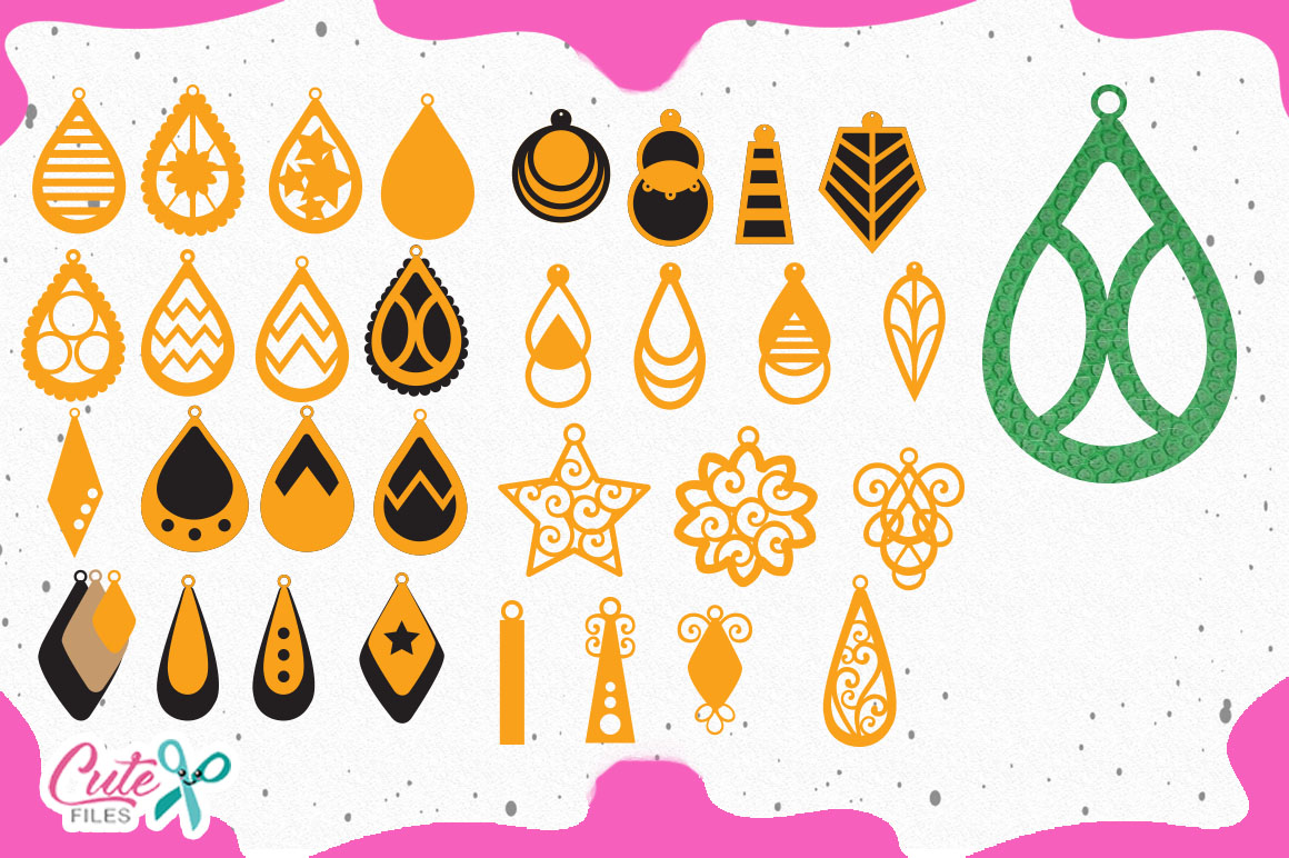 Bundle Earrings templante svg for crafters example image 4