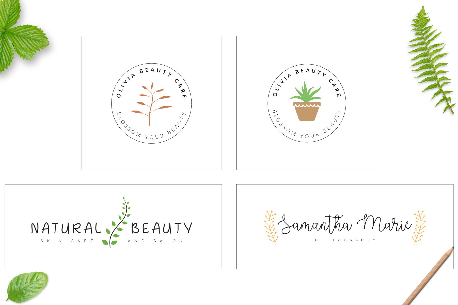70 Elegant Floral Logo Bundle example image 16