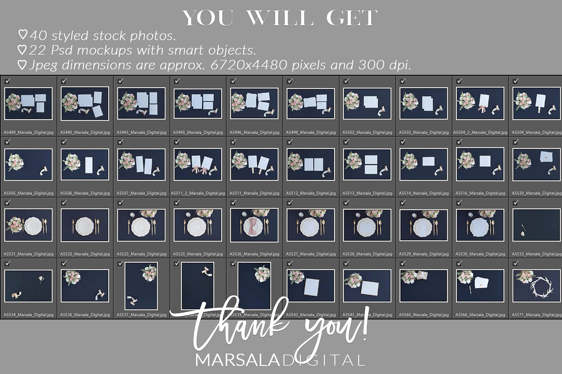 Blush and Navy Wedding Mockup Bundle example image 13