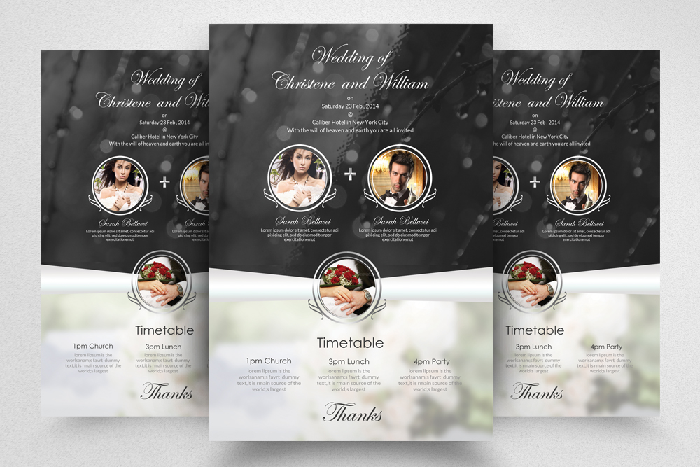 6 Wedding Invitaion Flyer Template example image 6