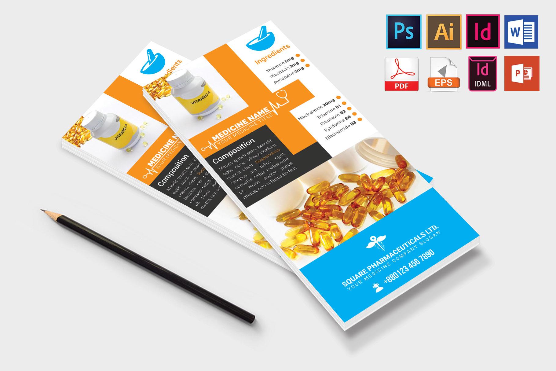 Rack Card | Medicine Promotion DL Flyer Vol-01 example image 4