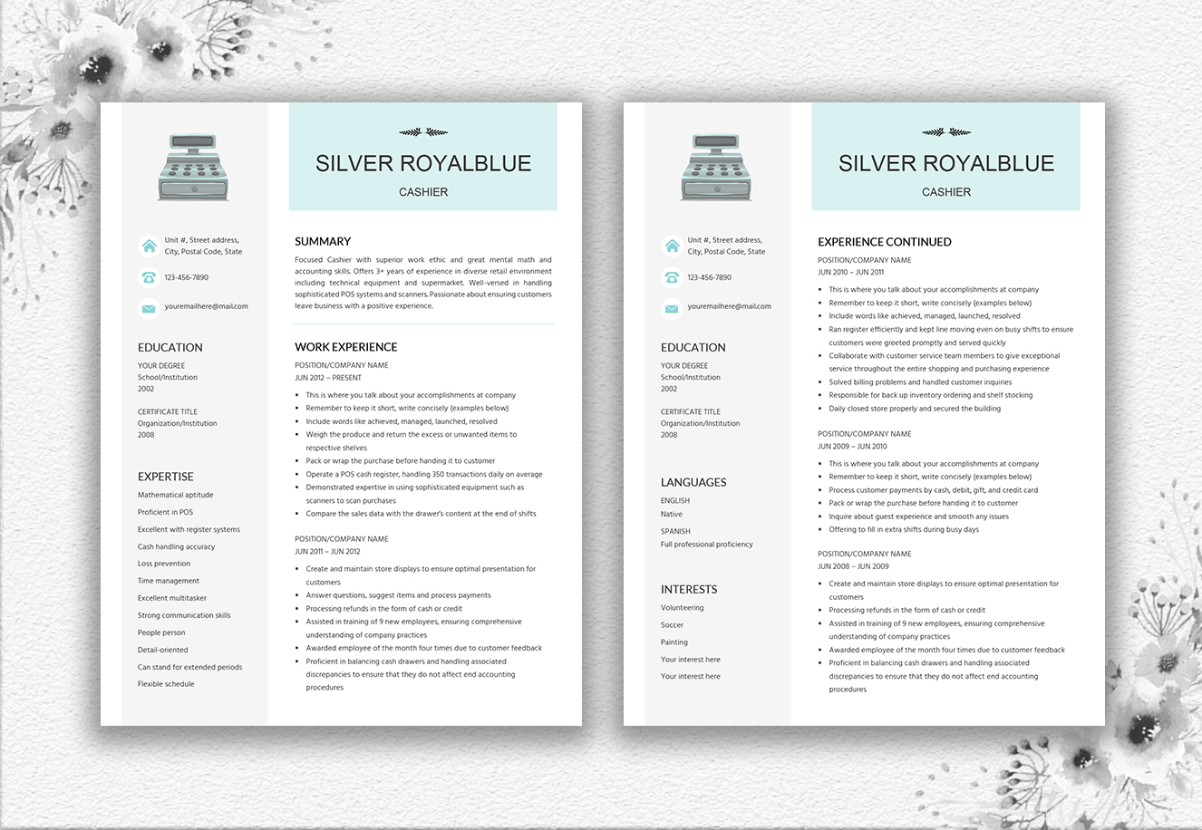 resume template salesperson