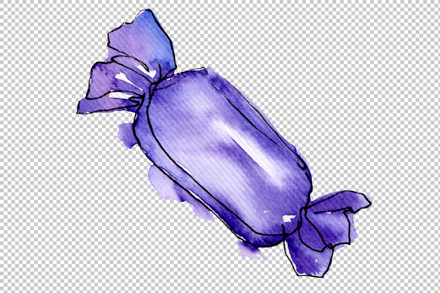 Candies aramel Watercolor png example image 11