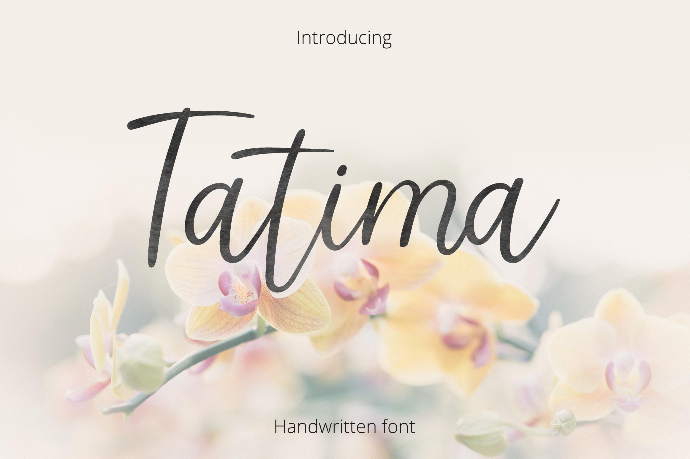 Tatima. Handwritten font.  example 1