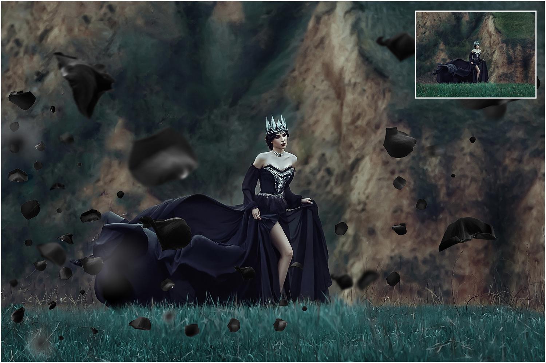 5K Black Rose Petals Overlays example image 4