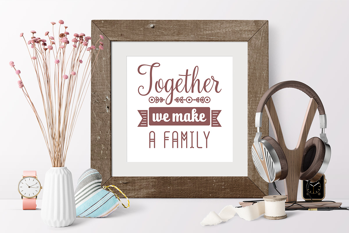 Love Family Quotes. SVG bundle. Vol. 1 example image 4