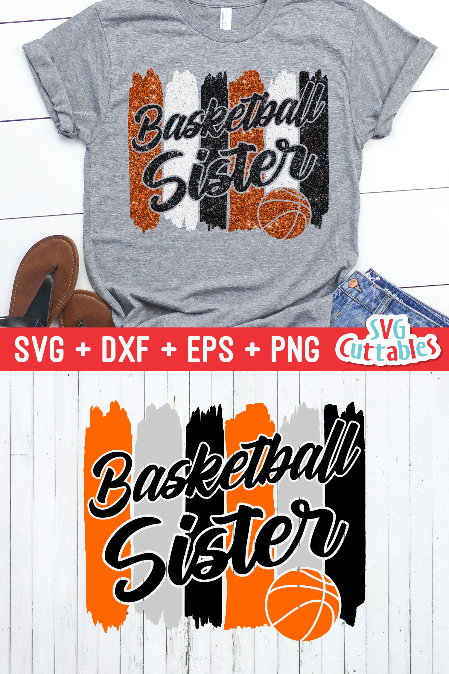 Basketball Sister | SVG Cut File example image 3