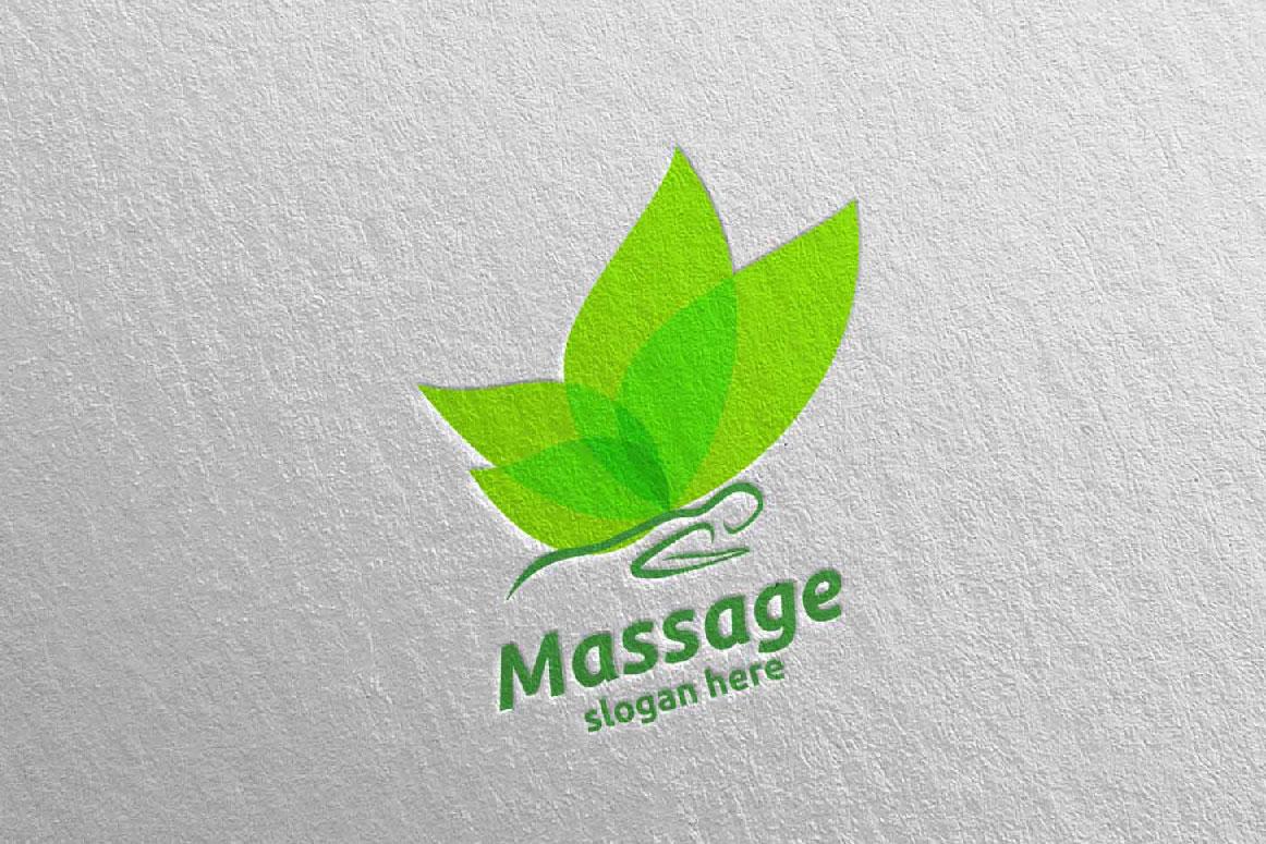 Massage Logo Design 15 example image 5