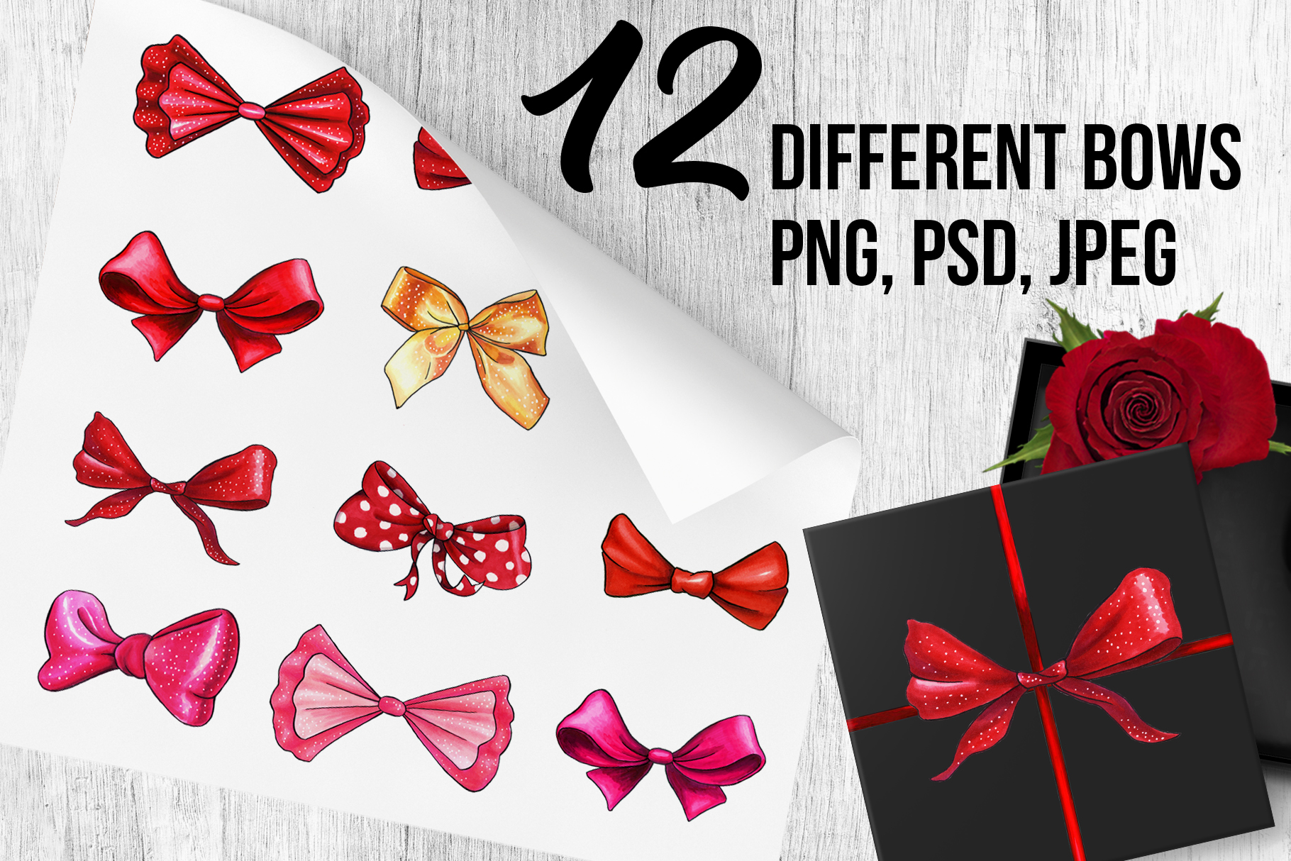 Bows and Ribbons Marker Clipart Collection example image 2