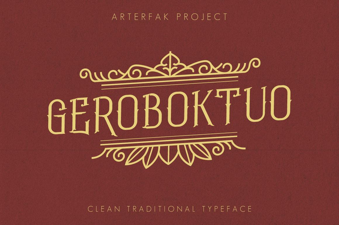 Geroboktuo Typeface example image 1