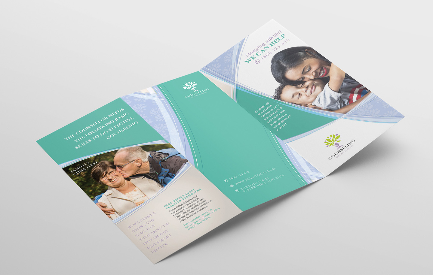 Counselling Service Tri-Fold Brochure Template example image 4