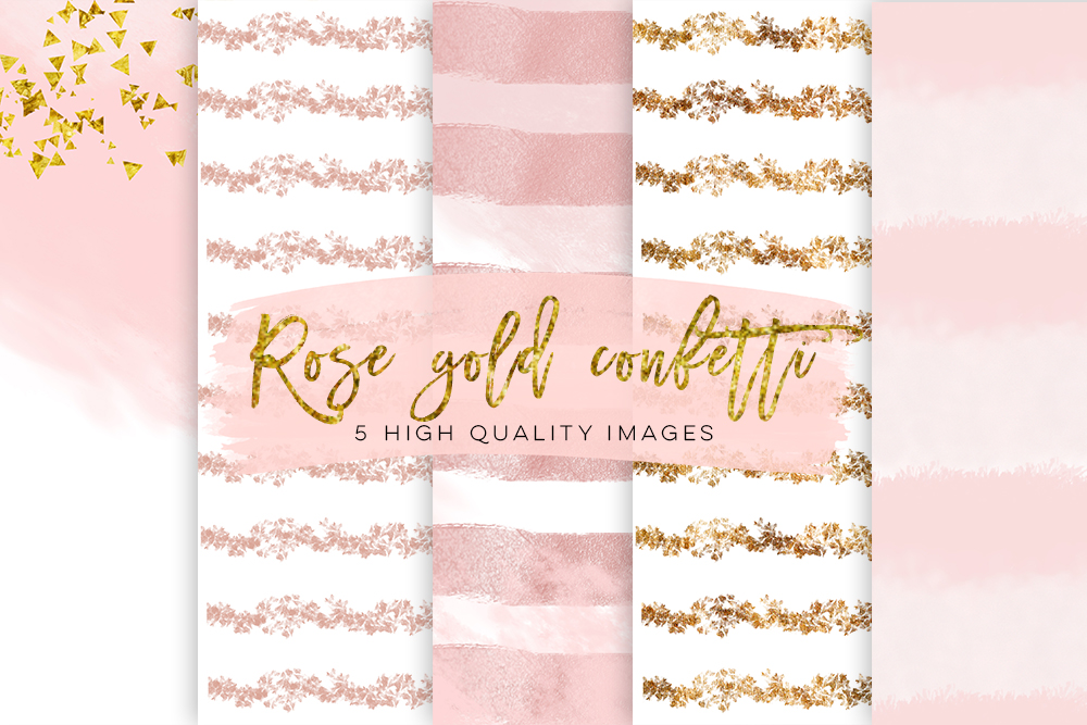 Rose Gold Foil Glitter Textures, Rose Gold Digital Paper, Modern Digital Paper, Digital Paper Commercial Use, Rose Gold Foil Print Patterns example image 2