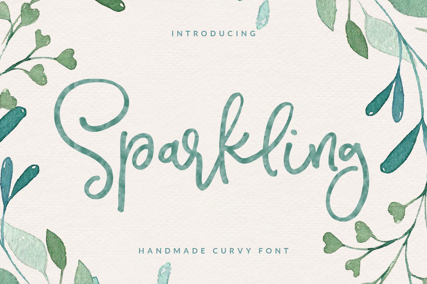Sparkling Script Font example image 1