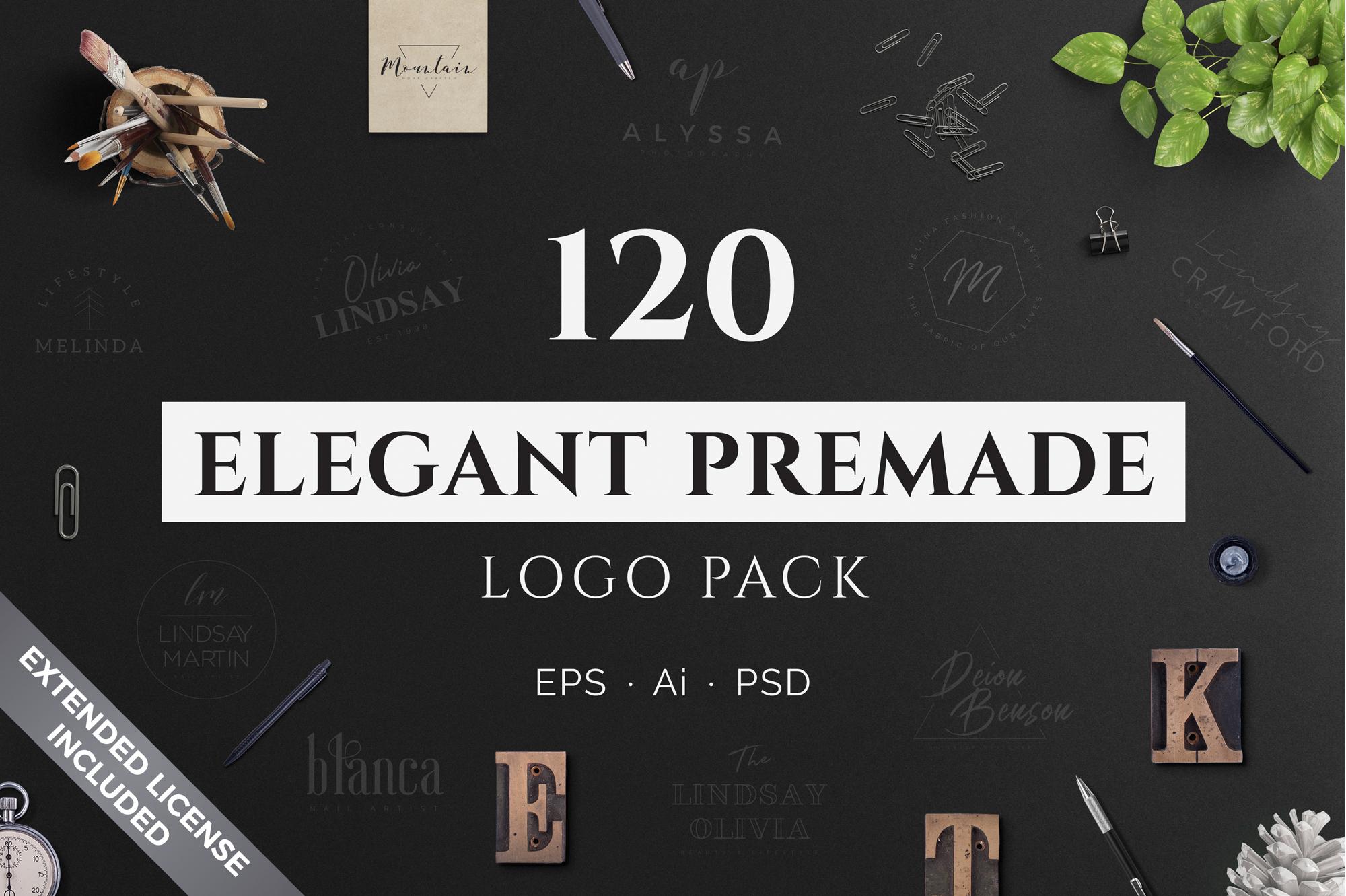 640 Premade Logos Mega Bundle example image 3