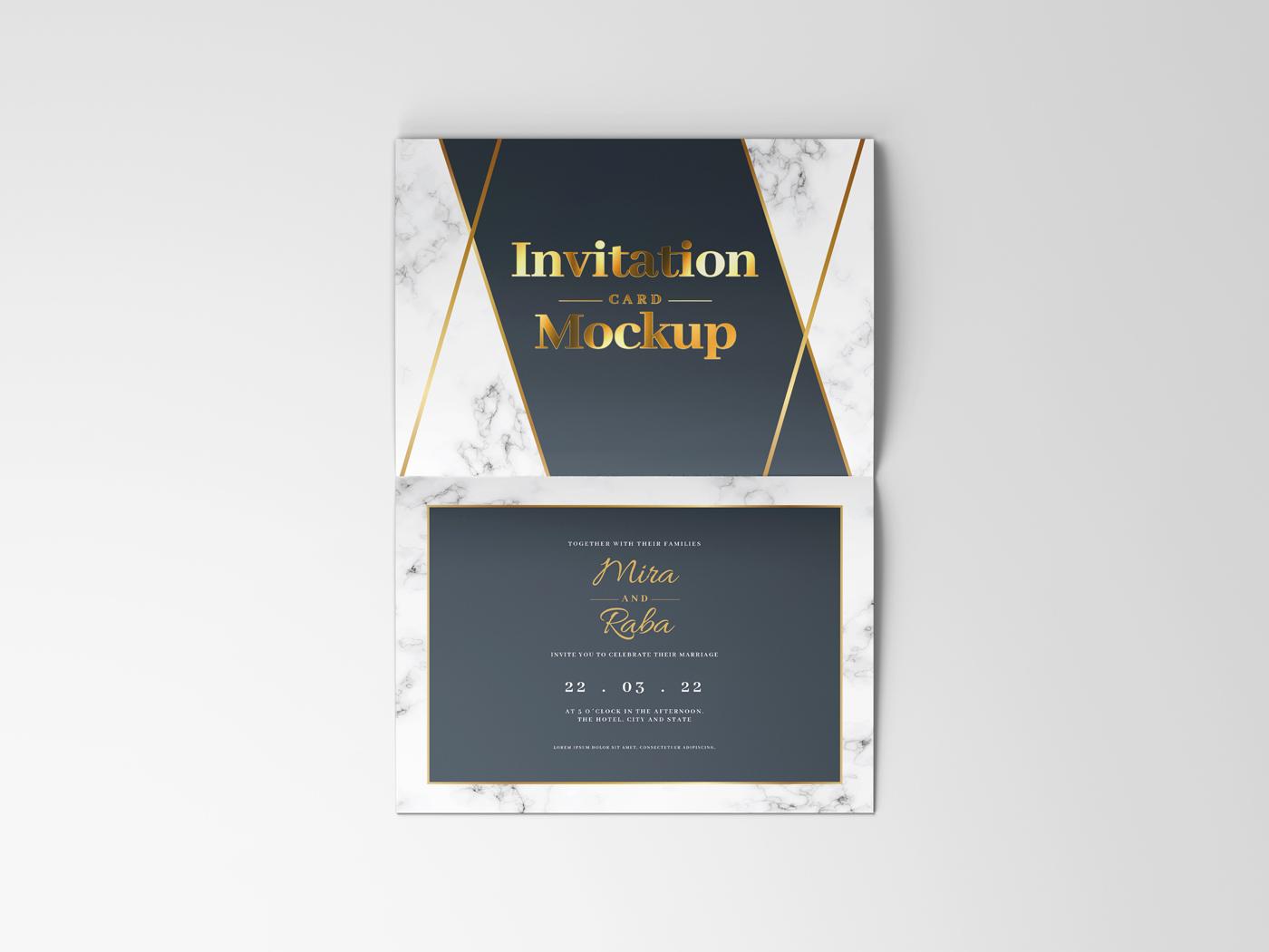 Invitation Card Mockups V1 example image 15