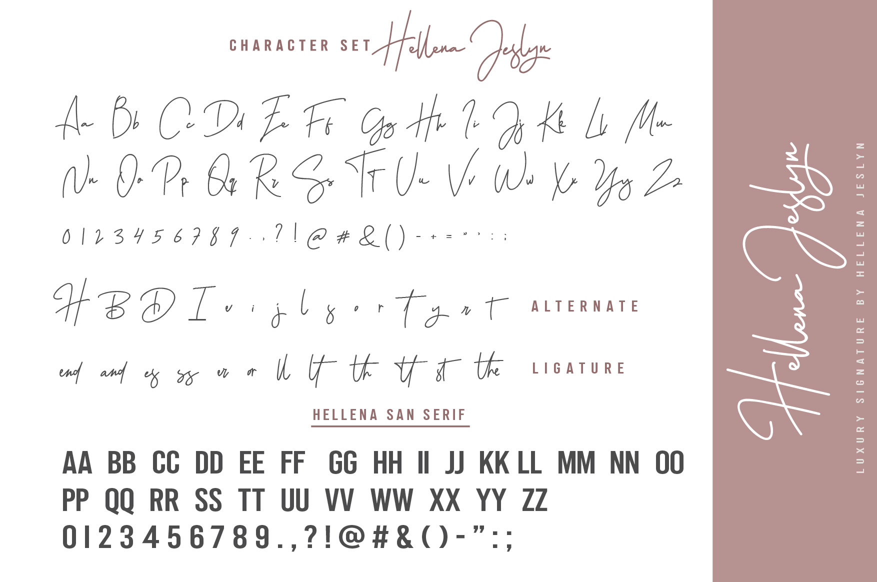 Hellena Jeslyn Signature Font Duo Free Logo example image 19