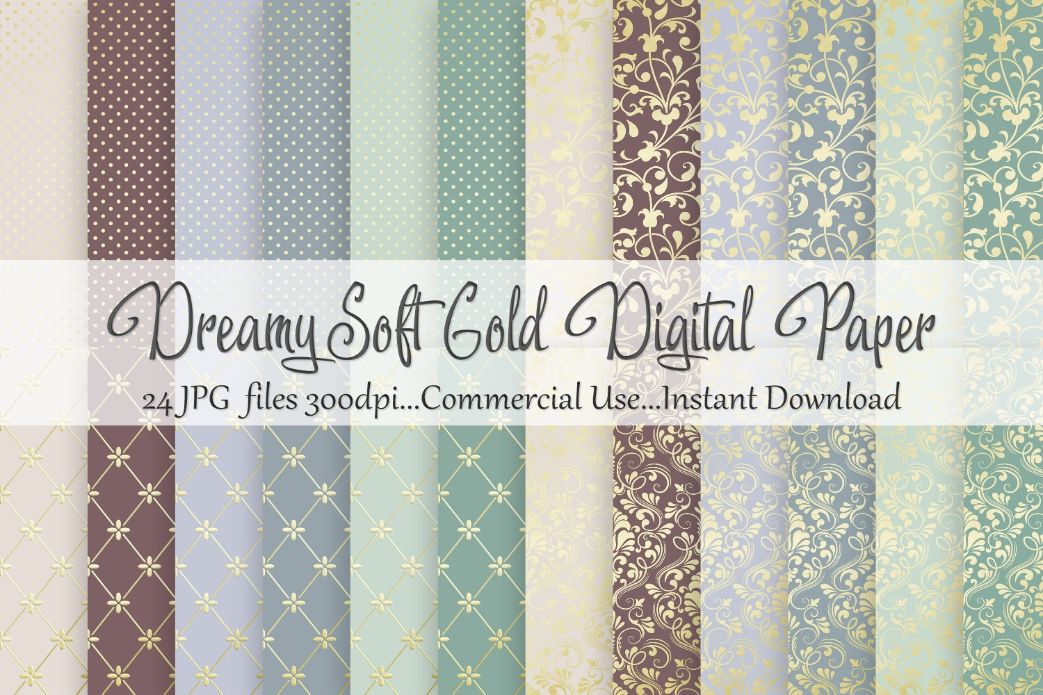 Dreamy Soft Gold Digital Paper example image 1