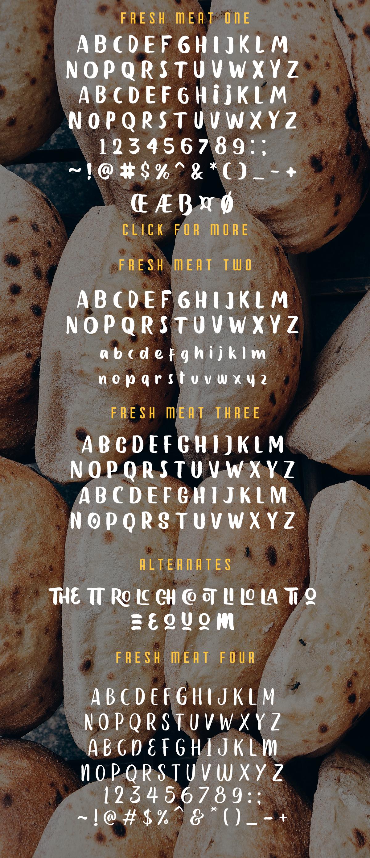 Fresh Meat 4 Font Pack + Bonu example image 10