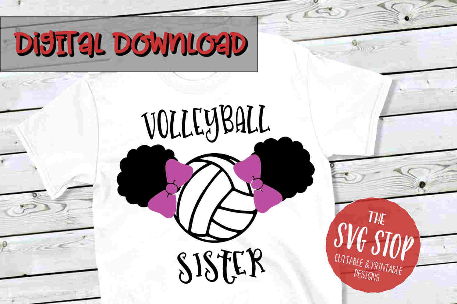 Volleyball Sister SVG PNG DXF example image 1