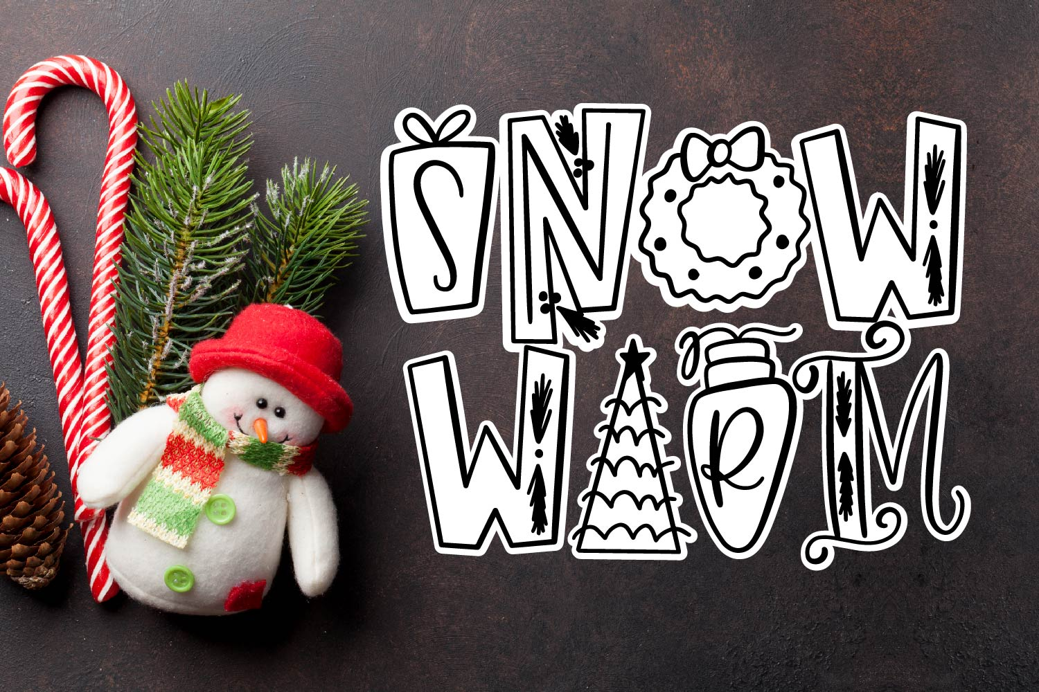Holiday Things - A Christmas Word Art Font! example image 3
