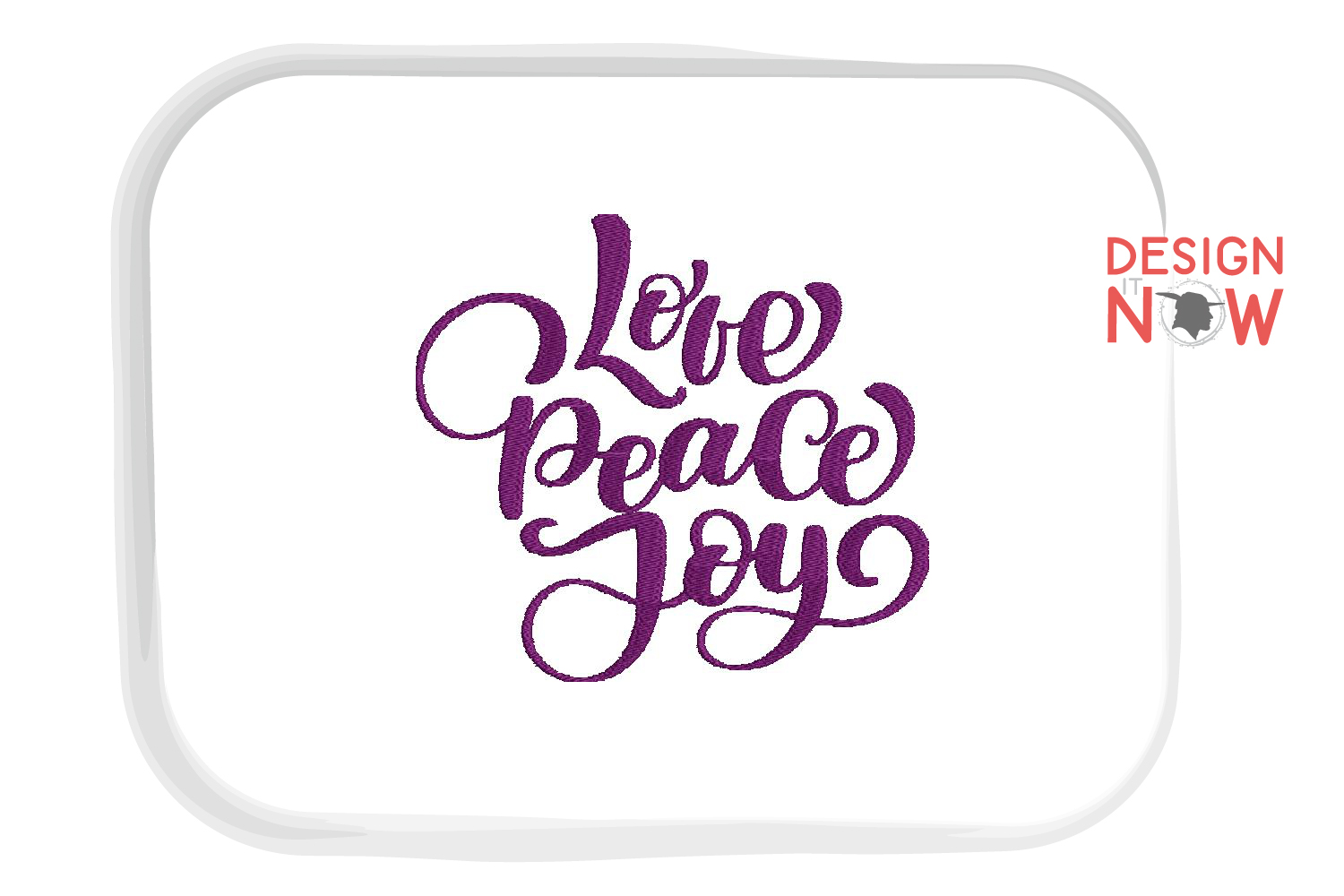 Love Saying Embroidery Design, Peace Embroidery Art example image 3