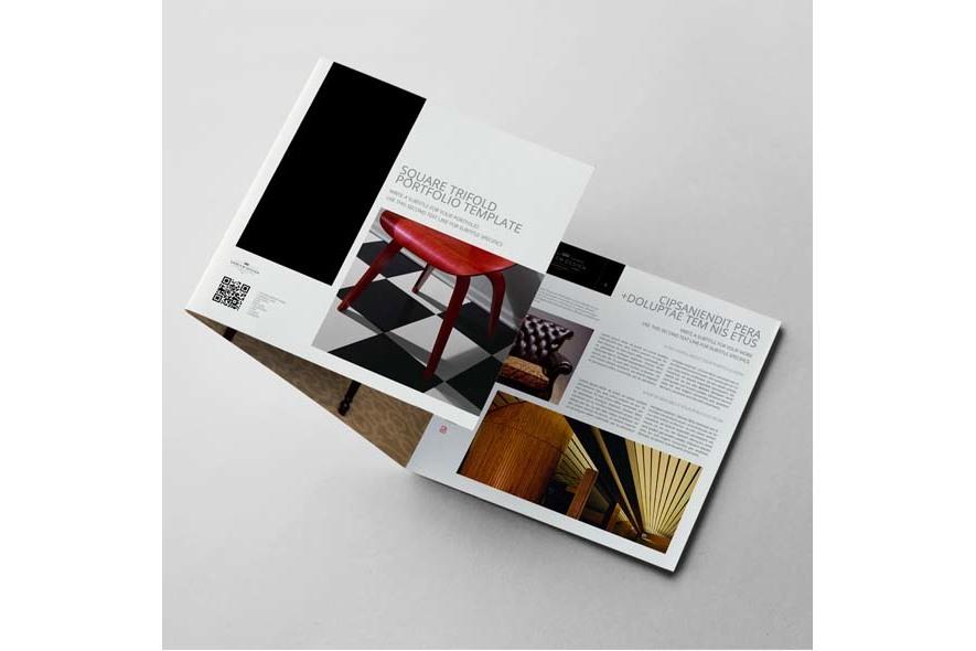 Square Trifold Portfolio Template example image 4