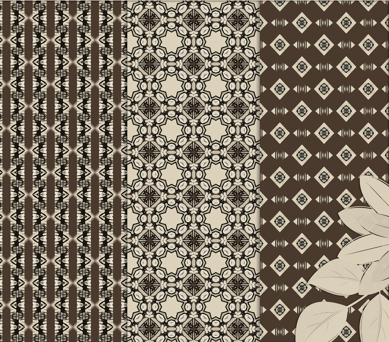 Brown-Gray abstract Digital Scrapbook Paper example image 5