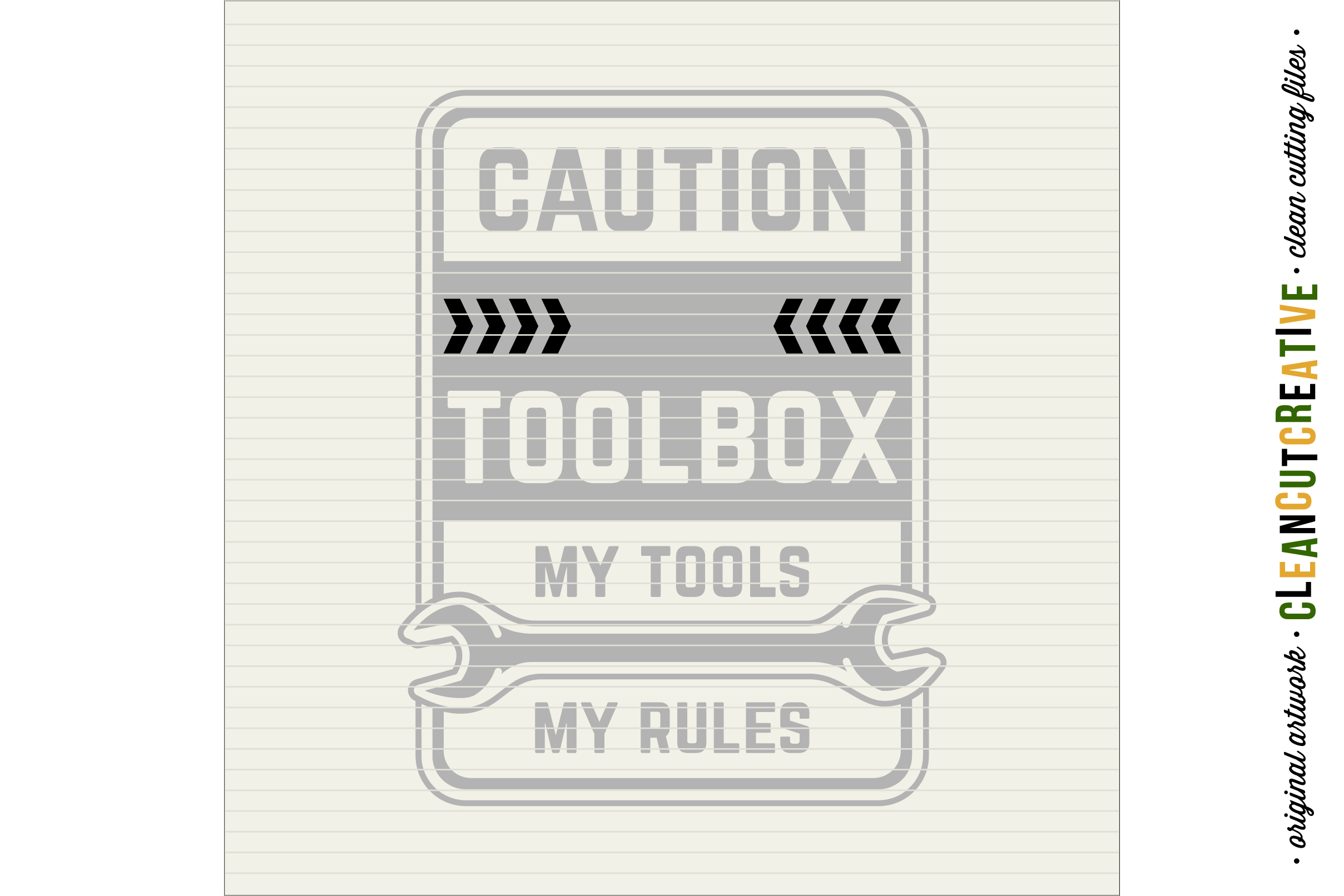 Mens Toolbox custom name decal - My Tools My Rules SVG file example image 4