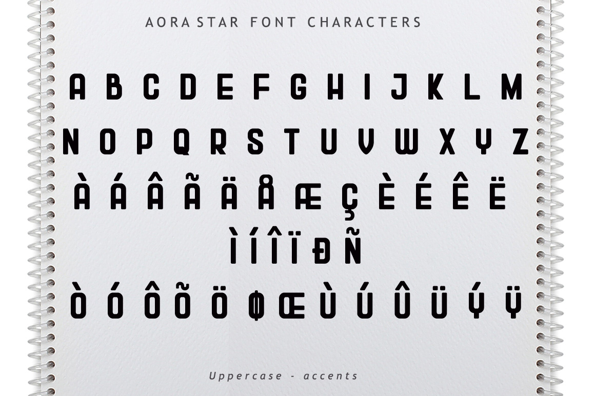 Aora star Font example image 6
