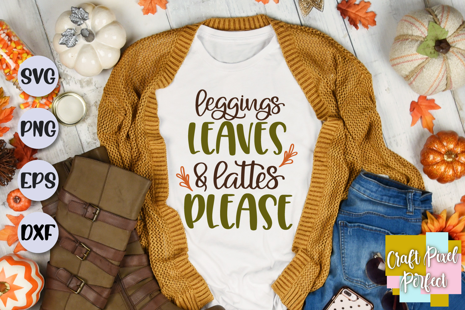 Leggings Leaves & Lattes Please Svg, Fall Svg Designs example image 1