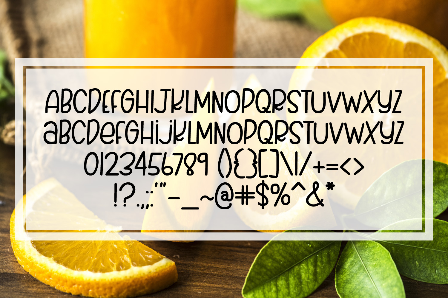 Juicy Oranges - A Smooth Quirky Hand Lettered Font by DWS example image 2