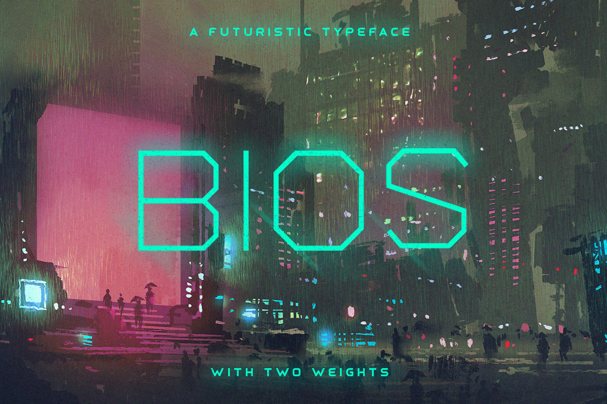 Bios Typeface example image 1