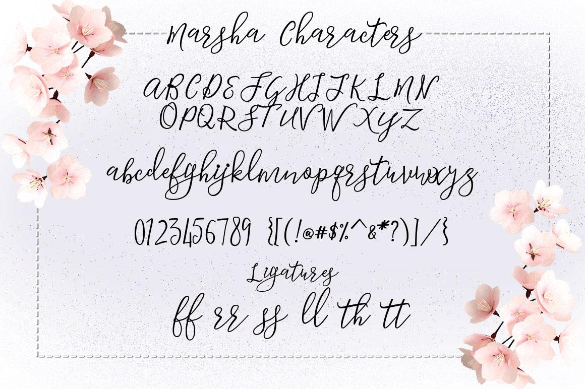 Marsha Typeface example image 5