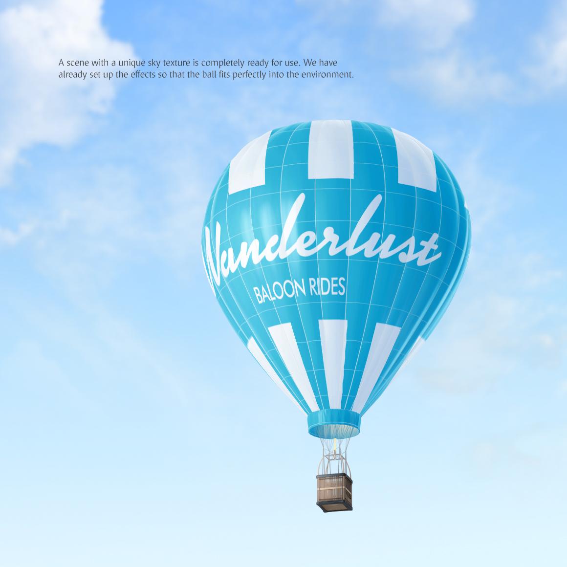 Hot Air Balloon Mockup example image 4
