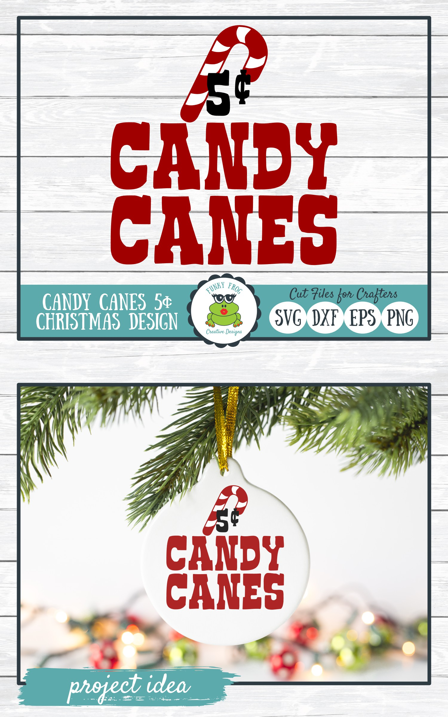 Candy Canes 5 Cents, Christmas Winter Holiday SVG Cut File example image 4