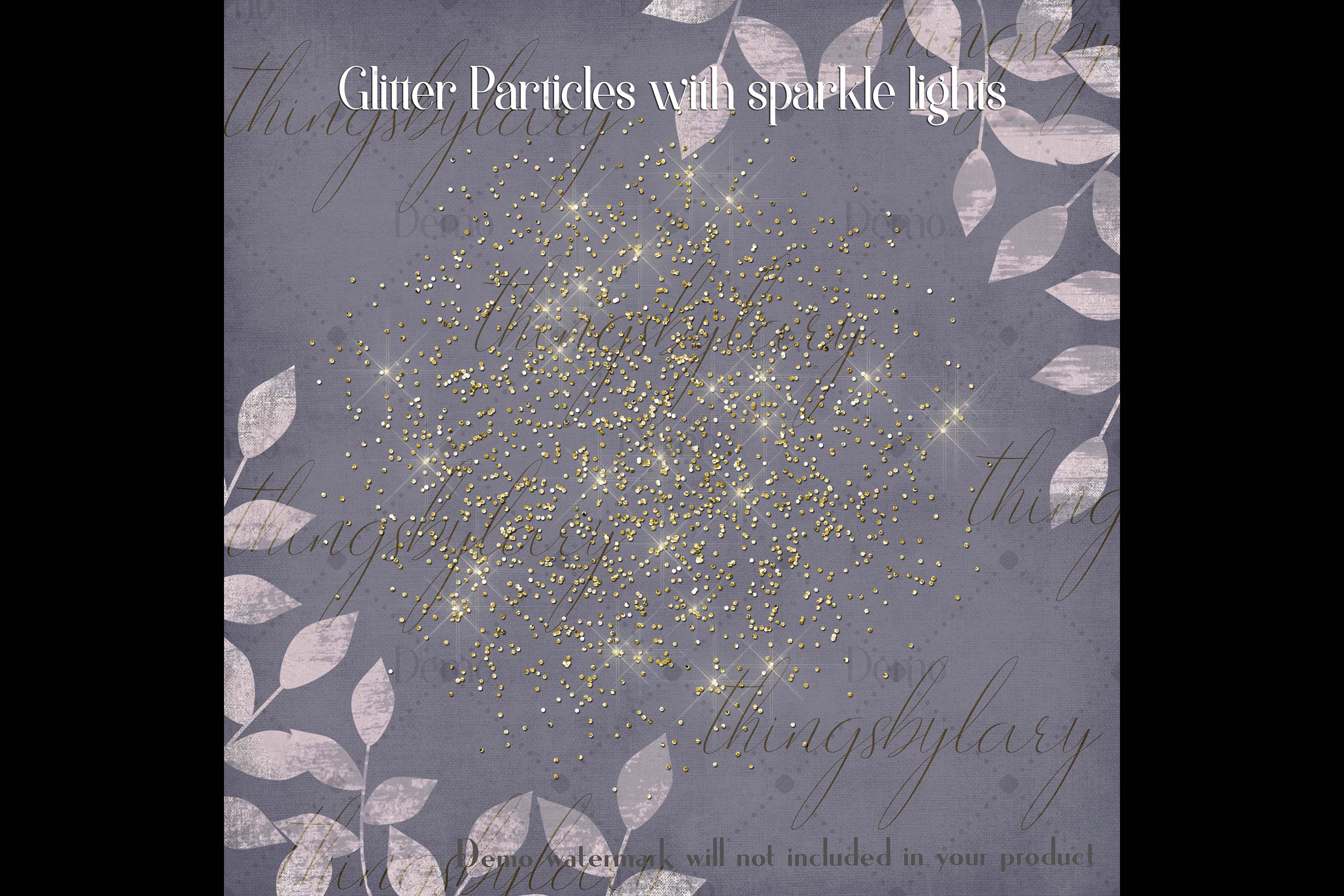 32 Glitter Particles Overlay Images Glitter Dust Confetti example image 2