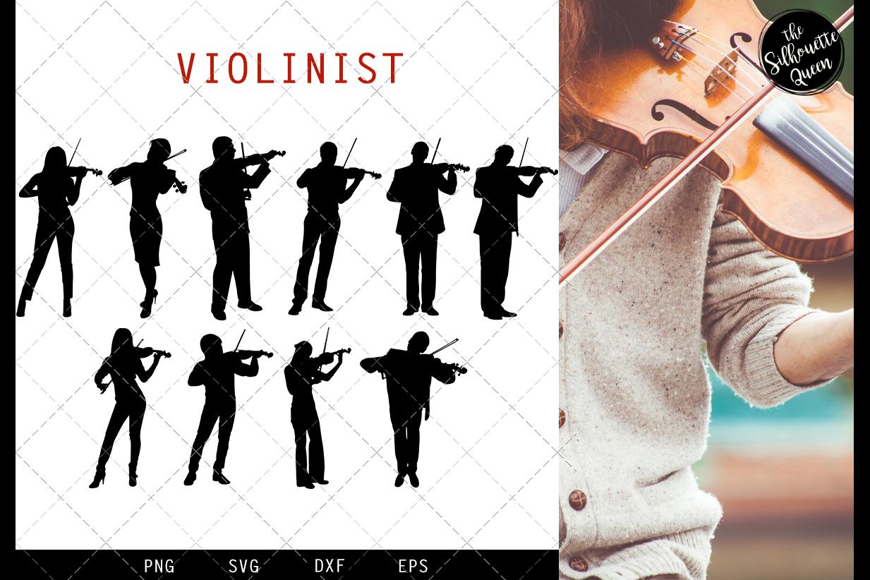 Violinist Silhouette Vector svg file, violin musician svg cu example image 1