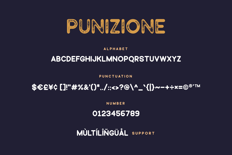 Punizione - Sans Vintage Font example image 5