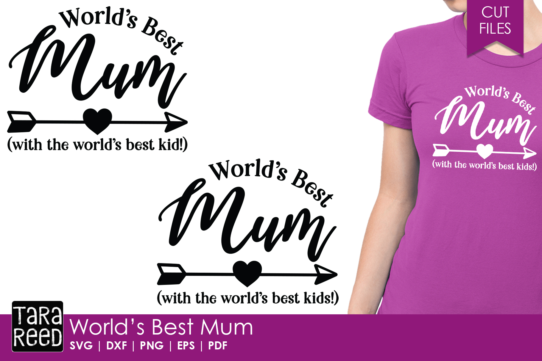 Worlds Best Mum - Family SVG and Cut Files for Crafters example image 1