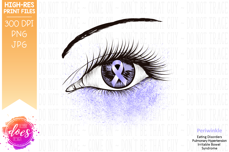 Periwinkle Awareness Ribbon Eye - Printable Design example image 2